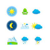 Weather & nature icons Stock Images