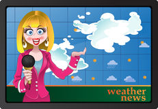 Weather news Stock Image