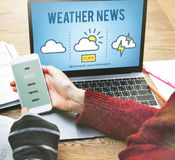 Weather News Information Reporter Concept Royalty Free Stock Images