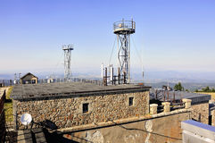 Weather observatory. Of the Aigoual mount Royalty Free Stock Photography