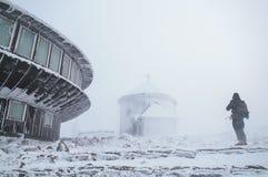 Weather observatory, Karkonosze Royalty Free Stock Photography