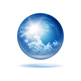 Weather orb. An image of a stylish weather glass orb Stock Photos