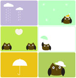 Weather owls Stock Images