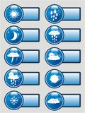 Weather pictograms banner set Royalty Free Stock Images