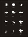 Weather pictograms banner set Royalty Free Stock Photography