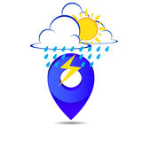 Weather pin pointer icon symbol  Stock Photos