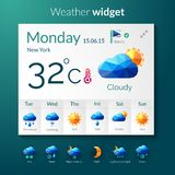 Weather Polygonal Widget Stock Image