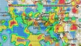 Weather Radar Digital Satellite Map stock video