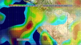 Weather Radar Digital Satellite Map (Western US) Stock Image
