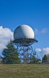 Weather Radar Installation. Weather Radar Structure in the Magnolia community in Washington State stock images