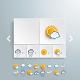 Weather Rectangles Template PiAd Royalty Free Stock Photography