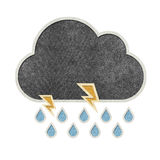 Weather recycled papercraft on paper background Royalty Free Stock Image