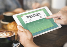 Weather Report Data Meteorology Concept Stock Images