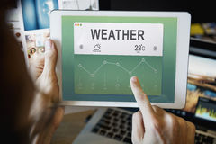 Weather Report Data Meteorology Concept Stock Image