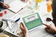 Weather Report Data Meteorology Concept Royalty Free Stock Images
