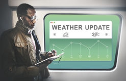 Weather Report Data Meteorology Concept. Weather Update Report Data Meteorology Royalty Free Stock Photo