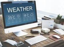 Weather Report Forecast Temperature Concept Stock Photo