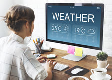 Weather Report Forecast Temperature Concept royalty free stock photo