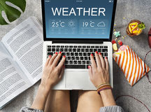 Weather Report Forecast Temperature Concept. Weather Report Forecast Temperature Metrology Royalty Free Stock Images