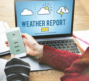 Weather Report Prediction Forecast News Information Concept Royalty Free Stock Photos