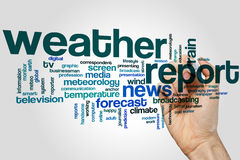Weather report word cloud Royalty Free Stock Photo