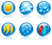 Weather round icons Stock Photos