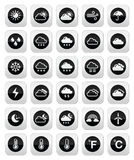 Weather round  icons set Royalty Free Stock Photography