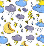 Weather seamless colorful pattern Stock Photos