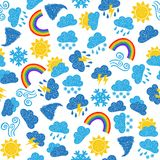 Weather seamless pattern Royalty Free Stock Photography