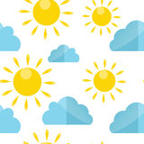 Weather Seamless Pattern Vector Illustration Royalty Free Stock Image