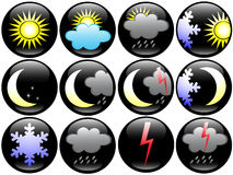 Weather and Season icons Stock Photos