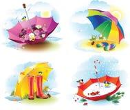 Weather seasons royalty free illustration