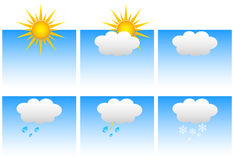 Weather set Royalty Free Stock Photo