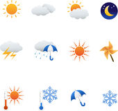 Weather set Stock Images