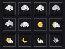 Weather Set 2 Royalty Free Stock Images
