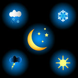 Weather set Stock Photo