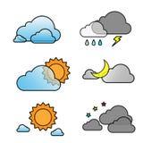 Weather set. Vector Weather set icon eps 10 Stock Photography