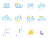 Weather set in color Stock Photo