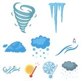 Weather related icon set Stock Image