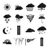 Weather set icons, simple style Stock Images