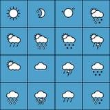 Weather set Stock Photos