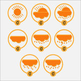 Weather set. Vector illustration, icon Stock Photo