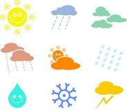 Weather shapes Stock Images