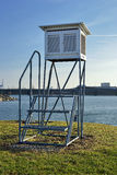Weather shelter, from a platform in Norway Stock Images