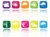 Weather signs. Icon set with weather signs Royalty Free Stock Image