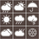 Weather signs Royalty Free Stock Photos