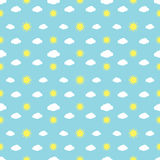 Weather Signs Seamless Pattern Stock Photo