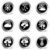 Weather simple vector icons Stock Photos