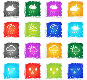 Weather simply icons Stock Photo