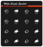 Weather simply icons Stock Photos